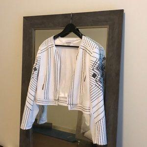 White Jacket with Black Detail Stitching